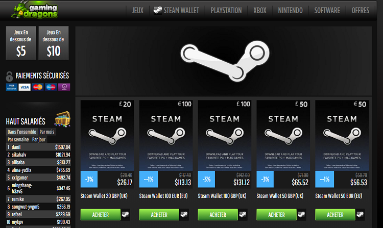 carte-steam-Gaming-Dragons